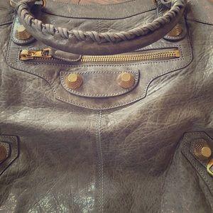 Balenciaga GGH Brief handbag in Taupe/Grey